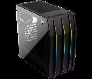 Aeocool Klaw RGB Tempered Glass 3x12cm Fan ATX Oyuncu Kasası
