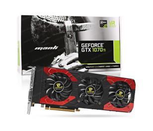 Manli GeForce® GTX 1070Ti Triple Fan 8GB GDDR5 256-Bit DVI-D, HDMI 2.0b, 3x DP1.4 PCI-Express Ekran Kartı