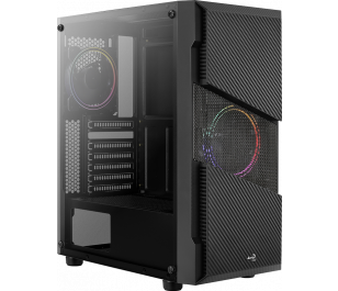 Aerocool Menace Saturn 600W 80+ Bronze 2 x 12cm FRGB Fan Mid Tower Kasa