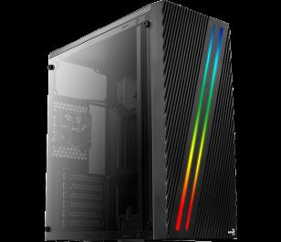 Aerocool Streak RGB Full Acrylic 750W Midi Tower Siyah Kasa