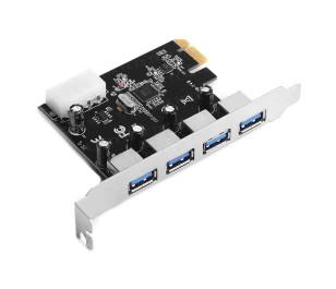 TX 4X USB 3.0 Portlu PCI Express x1 Kart