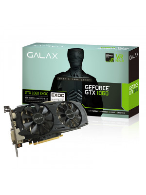 GALAX GeForce GTX 1060 EXOC 6GB 192-bit GDDR5 - HDMI 2.0B, DP1.4, Dual Link-DVI-D EKRAN KARTI
