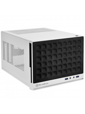 SilverStone SG13B Waffle Beyaz/Siyah Mini DTX/Mini-ITX Kasa