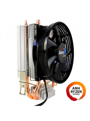 Aerocool Verkho2 Intel LGA1156/155/1151/1150/775 AMD FM2/FM1/AM4/AM3+/AM3/AM2+/AM2 9cm Fan İşlemci Soğutucu