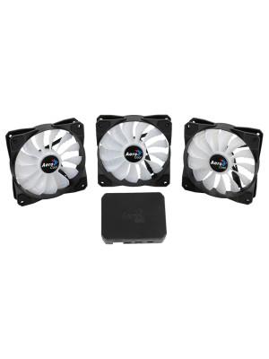 Aerocool P7-F12 Pro 3 x 12cm RGB Led Fan + RGB Kontrolcü Fan Hub