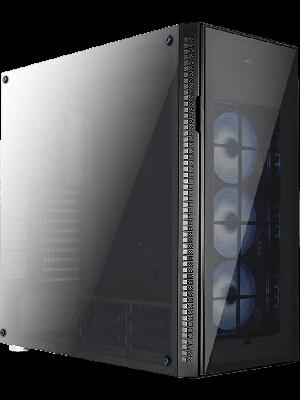 Aerocool Quartz Pro USB 3.0 RGB Led Fanlı ve Güçlendirilmiş Camlı Siyah ATX Oyuncu Kasası