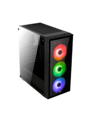 Aerocool Quartz USB 3.0 RGB Led Fanlı ve Güçlendirilmiş Camlı Siyah ATX Oyuncu Kasası