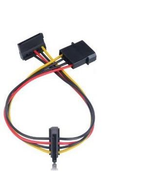 Akasa CBPW01-30 4Pin Molex'i 2x 15Pin SATA'ya Dönüştüren 30cm Kablo