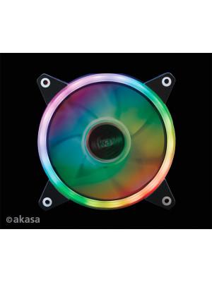 Akasa Vegas R7 Anakart Kontrollü RGB LED' li 120mm Ring Kasa Fanı