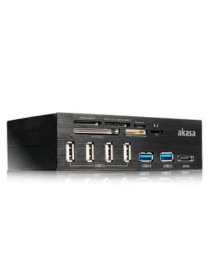 "Akasa InterConnect Pro 6xUSB eSATA Portlu, 5.25""Kart Okuyucu"