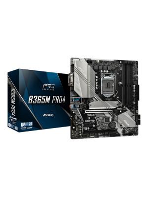 ASRock B365M-PRO4, 2xPCIeX16 (Gen3.0), 1x PCIeX1(Gen3.0) , 4x DDR4 2666MHz , 4x USB3.1 Gen1 , Intel 9. 8.Nesil İşlemci Destekli mATX Anakart