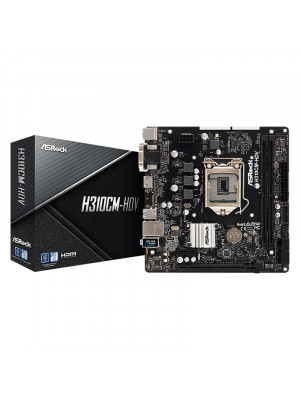 ASRock H310CM-HDV Socket 1151, DDR4 2666MHz, USB 3.1 Gen1, HDMI, DVI, VGA mATX Anakart