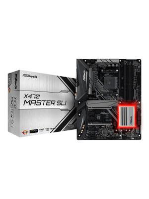 Asrock X470 MASTER SLI Ryzen AM4 Socket, 3466+ MHz(OC) DDR4, Quad SLI / CrossfireX, M.2 SSD, USB 3.1, RGB LED, ATX Oyuncu Anakart
