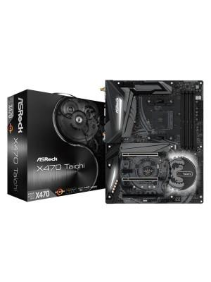 ASRock X470 TAICHI , 2x PCIe x16(Gen3), 8x Sata3, 4x DDR4 3466+(OC), Nvidia Quad SLI, AMD Quad CrossFireX AMD AM4 ATX Anakart