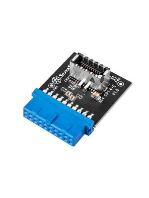 Silverstone CP14-E USB 3.0 19Pin - USB 3.1/3.2 Type C 20Pin Başlık
