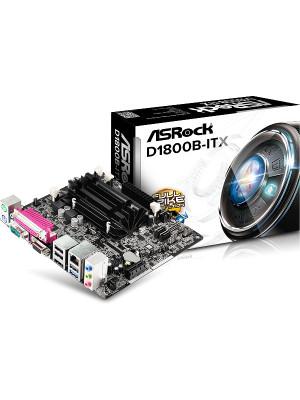 Asrock D1800B-ITX Intel J1800 1333MHz DDR3 Sodimm, (Dual Core Intel İşlemci Dahil) 10W Çok Düşük Güç Tüketimli Mini ITX Anakart (ASRD1800B-ITX)