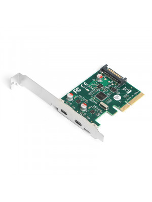 Dark USB 3.2 Gen2  2x Type-C PCI-E x4 Kart