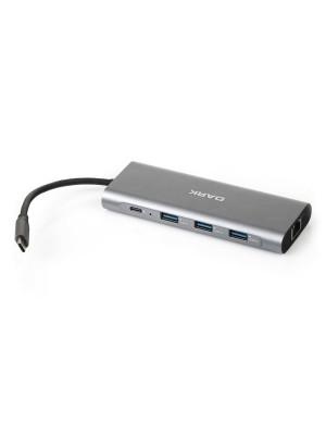 Dark USB 3.1 Type C 9 in 1 Ethernet / HDMI / TF SD Kart Okuyucu / USB 3.0 / Kulaklık Çoklayıcı Dönüştürücü Çevirici HUB