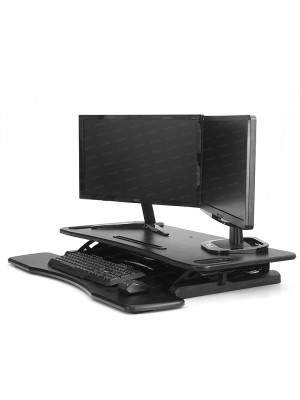 Dark VZ15 Sit&Stand Desktop Workstation