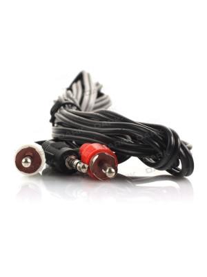 Dark 3 Metre 2 x RCA (Analog Ses) -  3.5mm Stereo Kablosu (2 x RCA Erkek - 1 x 3.5mm Stereo Erkek)
