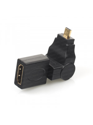 Dark Micro HDMI 270° Derece Dönüştürücü Dirsek (micro HDMI Erkek - HDMI Dişi)