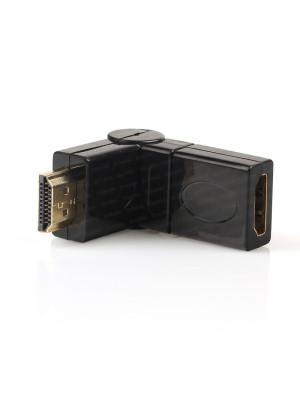 Dark HDMI 270° Derece Dönüştürücü Dirsek (HDMI Erkek - HDMI Dişi)