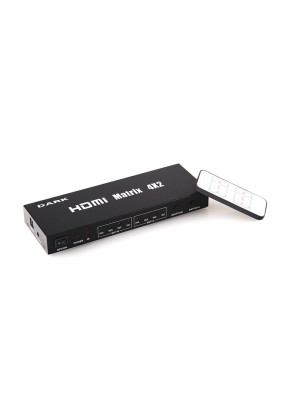 Dark Full HD 4 Giriş 2 Çıkışlı Uzaktan Kumandalı HDMI Switch (Seçici)