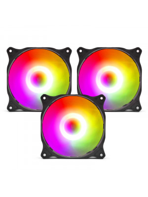 Dark 12cm Addressable RGB Tornado Fan (3pin+3pin) (Dark X-Force Fan)