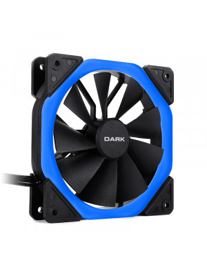 Dark 120mm Solid RING Mavi LED Fan