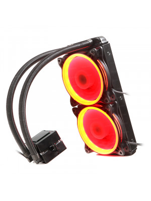 Dark AquaForce W242R Intel ve AMD Tüm Soketlerle Uyumlu Çift Fanlı 240mm Kırmızı LED'li Sıvı Soğutma Sistemi
