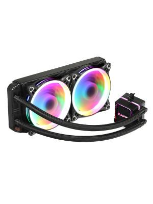 Dark AquaForce W244 AMD TR4 Uyumlu 240mm 2xÇevresel Adressable RGB Aydınlatmalı Sıvı Soğutma