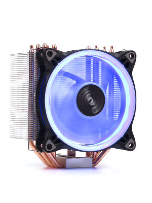 Dark Freezer X124 Intel LGA115X/2066 - AMD FM2/AM3/AM4 Uyumlu, 120mm Mavi Halka LED'li İşlemci Soğutucu