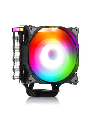 Dark Freezer X126 Blok Üstü ARGB ve Çevresel Aydınlatmalı ARGB Fanlı, Mat Siyah Kule Tipi Soğutucu