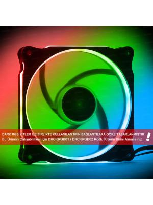 Dark 120mm RGB RING LED Kasa Fanı (RGB Kit Uyumlu - 6 pin Bağlantılı)