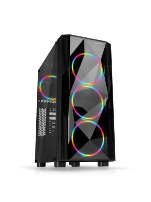 Dark Diamond PRO 500W 80+ Bronze 4x12cm Fan, 1x USB3.0, 2x USB2.0 Full Akrilik Oyuncu Kasası ( Yeni )
