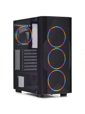 Dark Diamond PRO MESH 500W 4x12cm Fan, 1x USB3.0, 2x USB2.0 Full Akrilik Oyuncu Kasası ( Yeni )