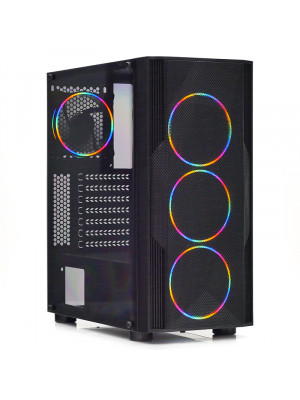 Dark Diamond PRO MESH 600W 80+ Bronze 4x12cm Fan, 1x USB3.0, 2x USB2.0 Full Akrilik Oyuncu Kasası ( Yeni )