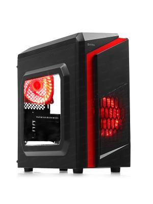 DARK F40 2x Kırmızı LED Fan USB3.0 Pencereli M-ATX Kasa