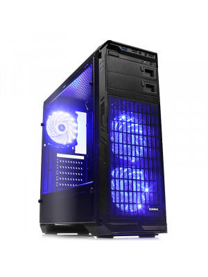 DARK N5 600W 80+ ST, USB 3.0, 3x12cm Fan LED'li , Full Cam Yan Panel ATX  Kasa