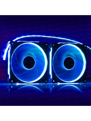 Dark Ultra Bright RGB RING LED Fan ve Şerit Kit (2x120mm Fan ve 35cm LED Şerit)