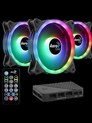 Aerocool Duo Pro 3x12cm ARGB Fan + Uzaktan Kumanda