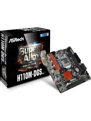 Asrock H110M-DGS R3, Intel H110, 1x PCIe x16 G3, 2133MHz DDR4, mATX Anakart