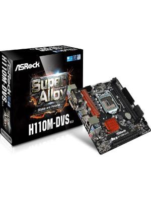Asrock H110M-DVS R3, Intel H110, 1x PCIe x16 G3, 2133MHz DDR4, mATX Anakart