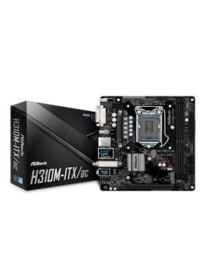ASRock H310M-ITX/AC,DDR4 2666MHz, Intel H310  LGA1151, Intel 8.Nesil İşlemci Desteği, Mini-ITX Anakart
