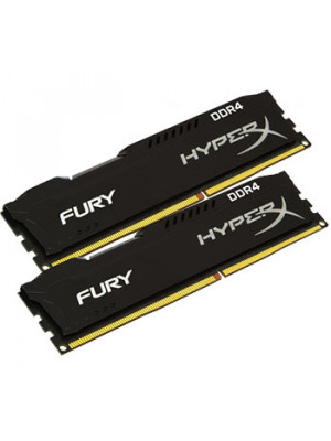 Kingston DDR4 32GB(2x16GB) 2400MHz  Hyperx FURY Black Ram Bellek - HX424C15FBK2/32