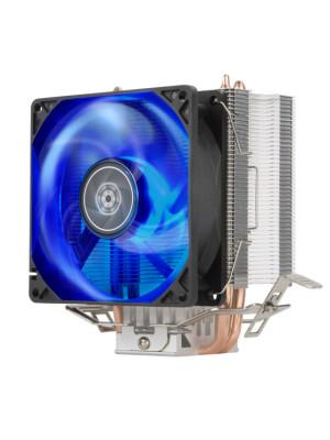Silverstone KR03 Mavi Led Intel Socket 775/115X/1200/1366 AMD Socket AM4/AM3/AM2/FM2/FM1 İşlemci Soğutucu