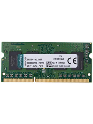 Kingston DDR3 2GB 1600MHz SODIMM Notebook Ram Bellek (KVR16S11S6/2)