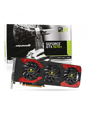 Manli GeForce® GTX 1070Ti Triple Fan 8GB GDDR5 256-Bit DVI-D, HDMI 2.0b, 3x DP1.4 PCI-Express Ekran Kartı