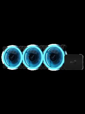 Aerocool Rev RGB Pro 3x12cm RGB Led Fan + RGB Kontrolcü Fan Hub