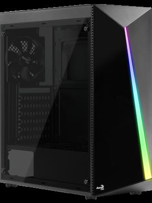 Aerocool Shard RGB Full Acrylic 500W 80+ Midi Tower Siyah Kasa